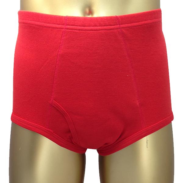 男性用失禁パンツ 赤ブリーフ 50ccスタイル写真