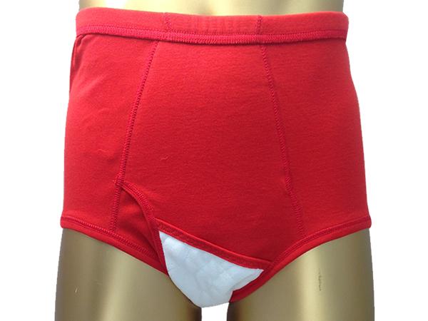 男性用失禁パンツ 赤ブリーフ 50ccカラー写真02