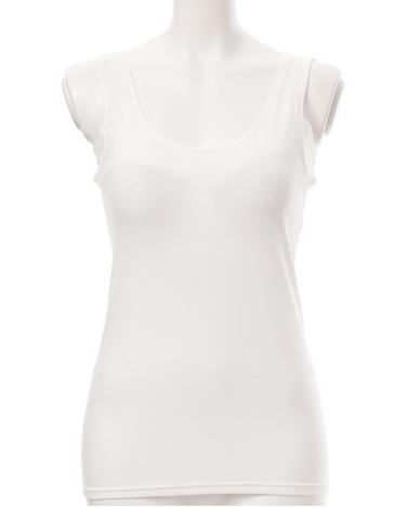 セブンプレミアム ボディクーラー 婦人 取り外しのできるカップ付タンクトップ(汗取り付)スタイル写真