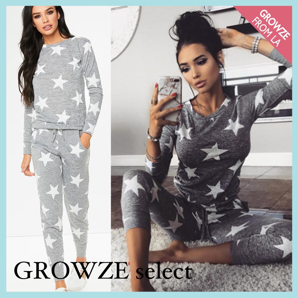 【GROWZE select】可愛い星柄 ラウンジウェアスタイル写真