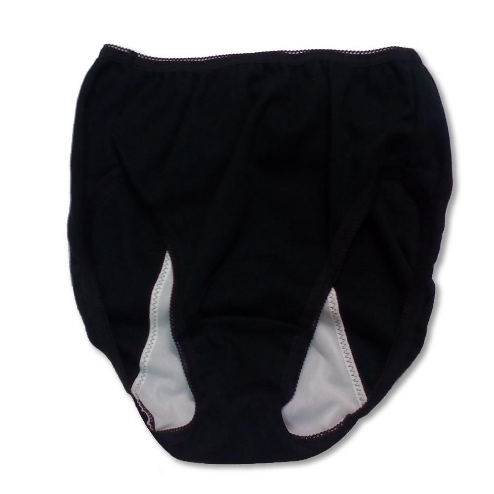 防水布が背中までで安心 夜用サニタリーショーツ 日本製(ワンポイントサックス)カラー写真01