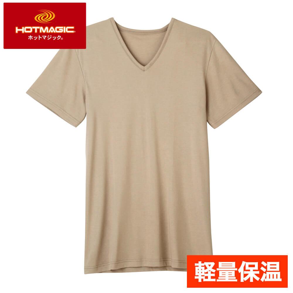 HOTMAGIC(ホットマジック)【軽量保温】VネックTシャツ(V首)(紳士)スタイル写真