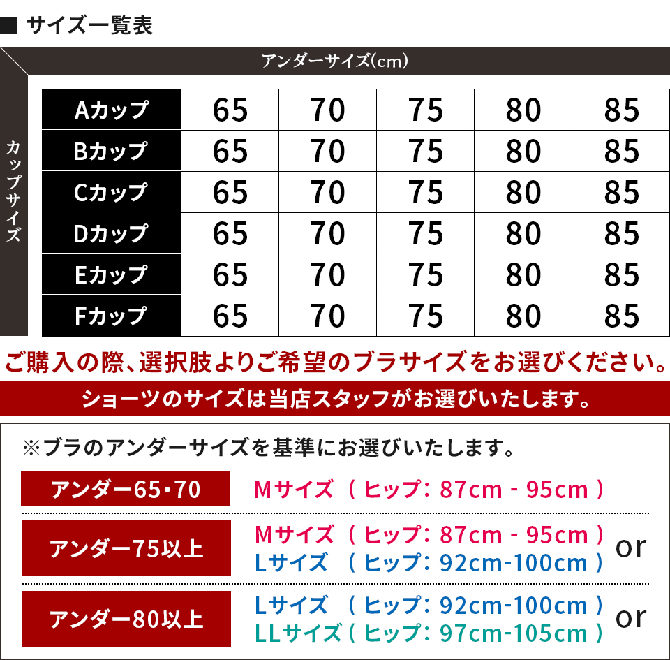 ブラジャー&ショーツセット Aカップ〜Fカップ おまかせ5組カラー写真04
