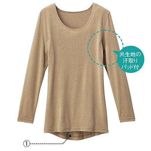 スマートヒート 汗取りパッド付き3分袖インナー(定番タイプ 衿ぐり狭め)カラー写真01