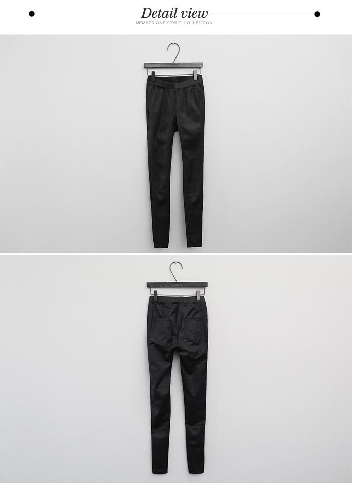 ウエストゴム レギパン/レザー スキニーカラー写真01