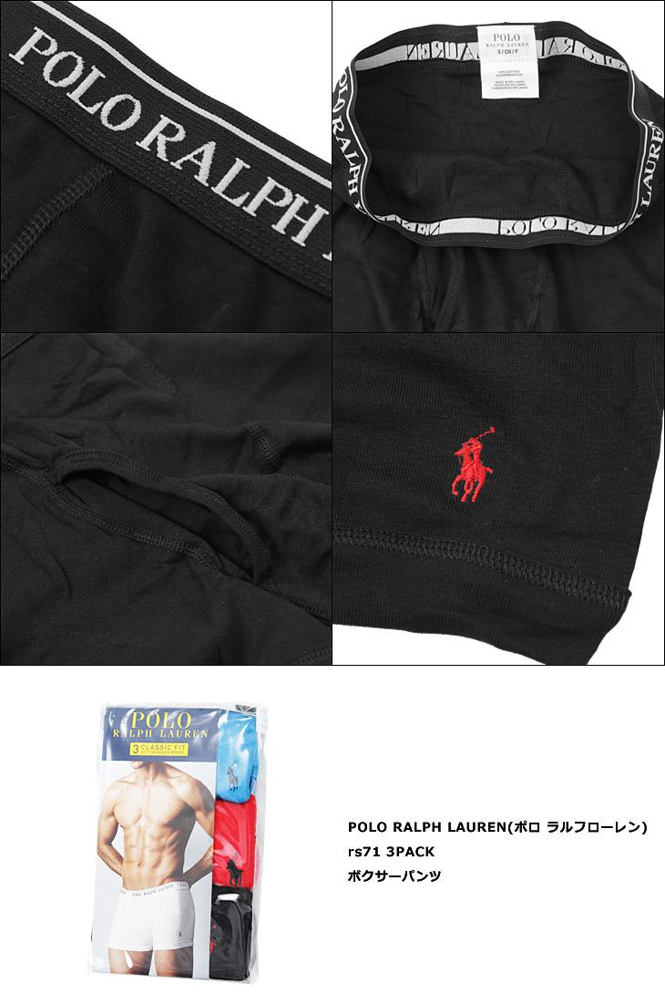 POLO RALPH LAUREN(ポロ ラルフローレン) 3PACK メンズ ボクサーパンツカラー写真02