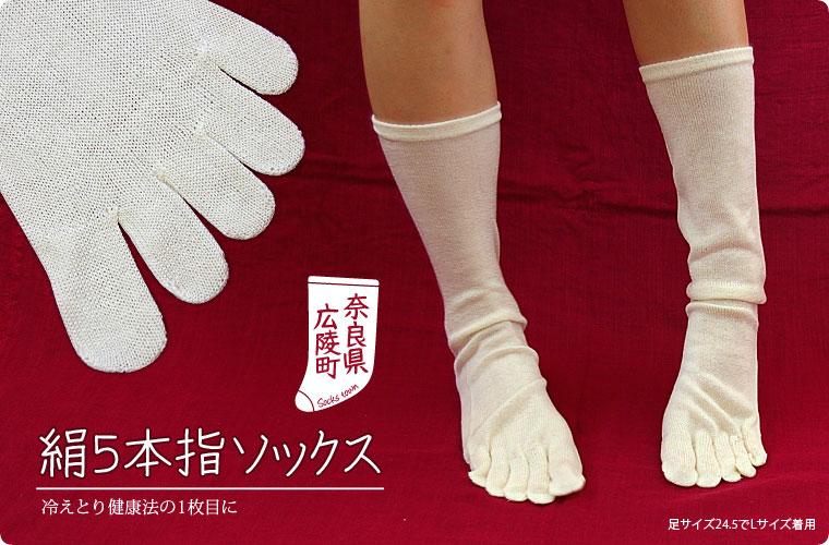 【冷え取り靴下 2足バリューセット】絹5本指ソックスカラー写真01