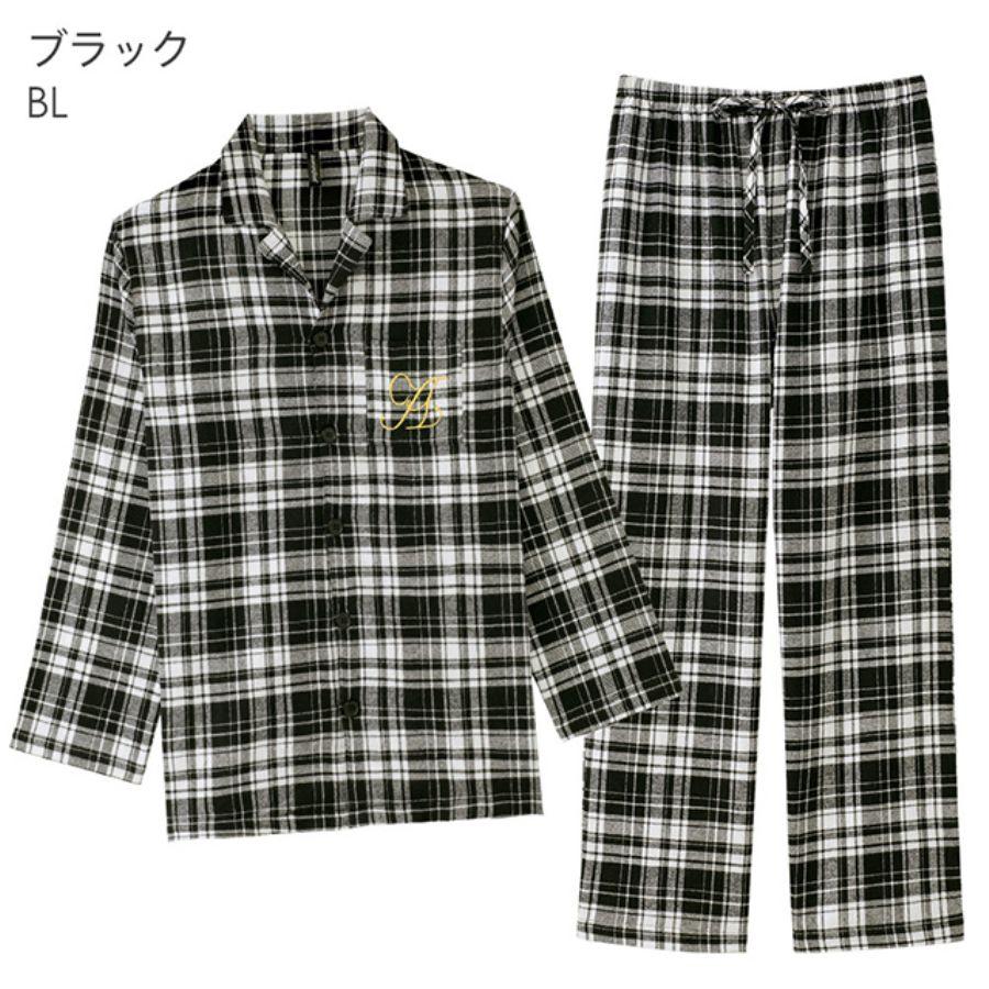 ネルシャツ パジャマ 上下セット(男女兼用サイズ)(カラー写真04