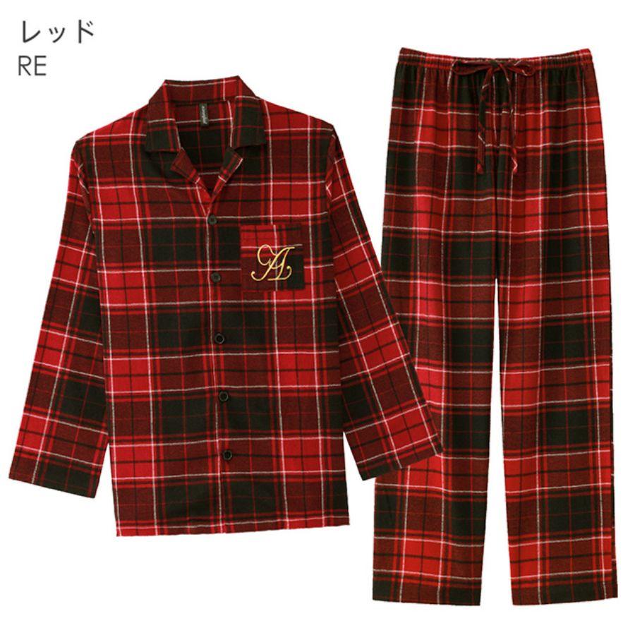 ネルシャツ パジャマ 上下セット(男女兼用サイズ)(その他の写真01