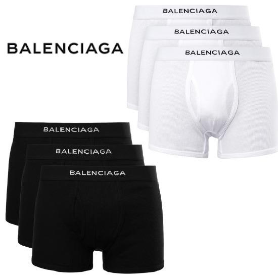 BALENCIAGAロゴ ボクサーパンツ 3枚セットスタイル写真