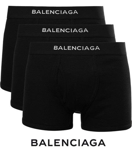 BALENCIAGAロゴ ボクサーパンツ 3枚セットカラー写真01