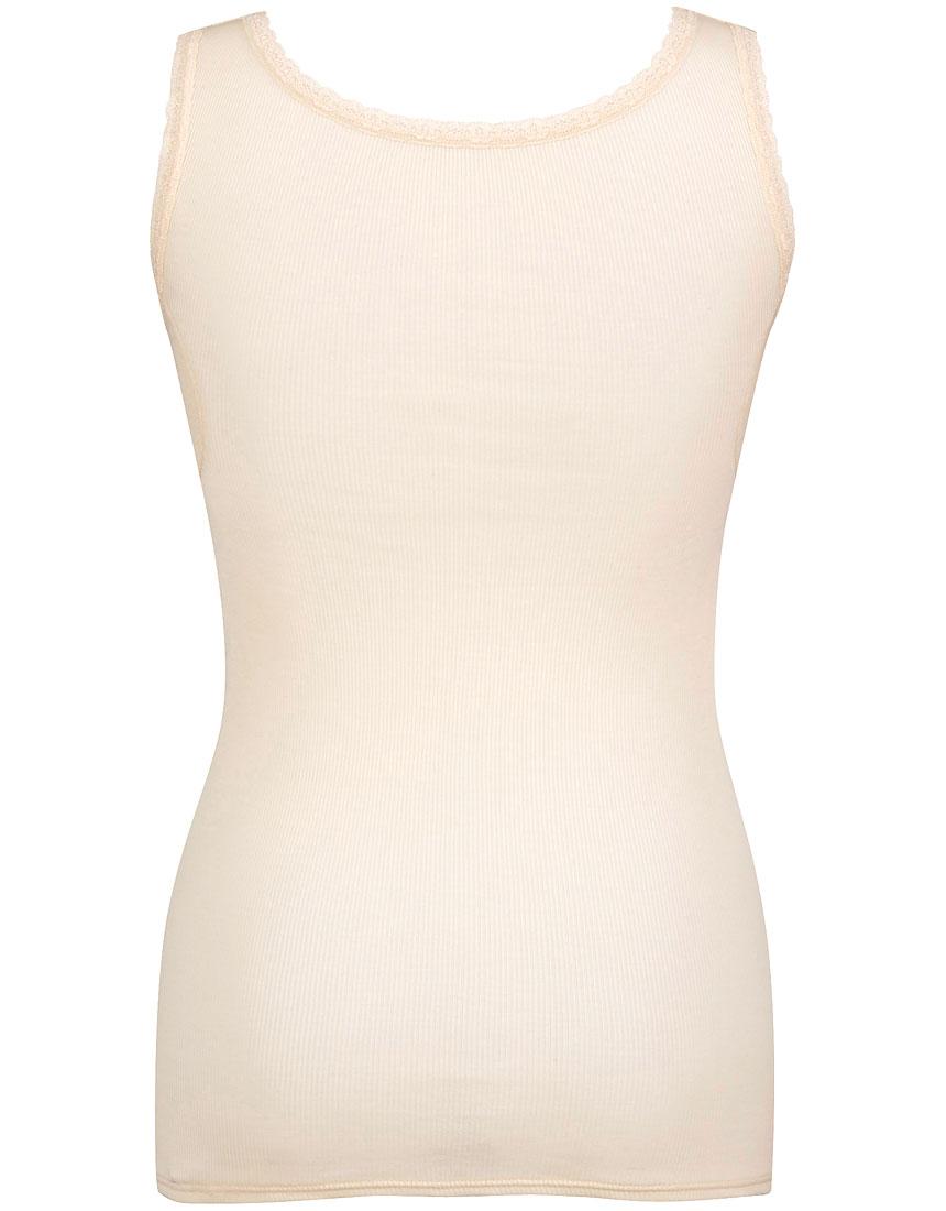 綿100%リブ編みタイプ Vネック ノースリーブ(汗取り付)カラー写真02