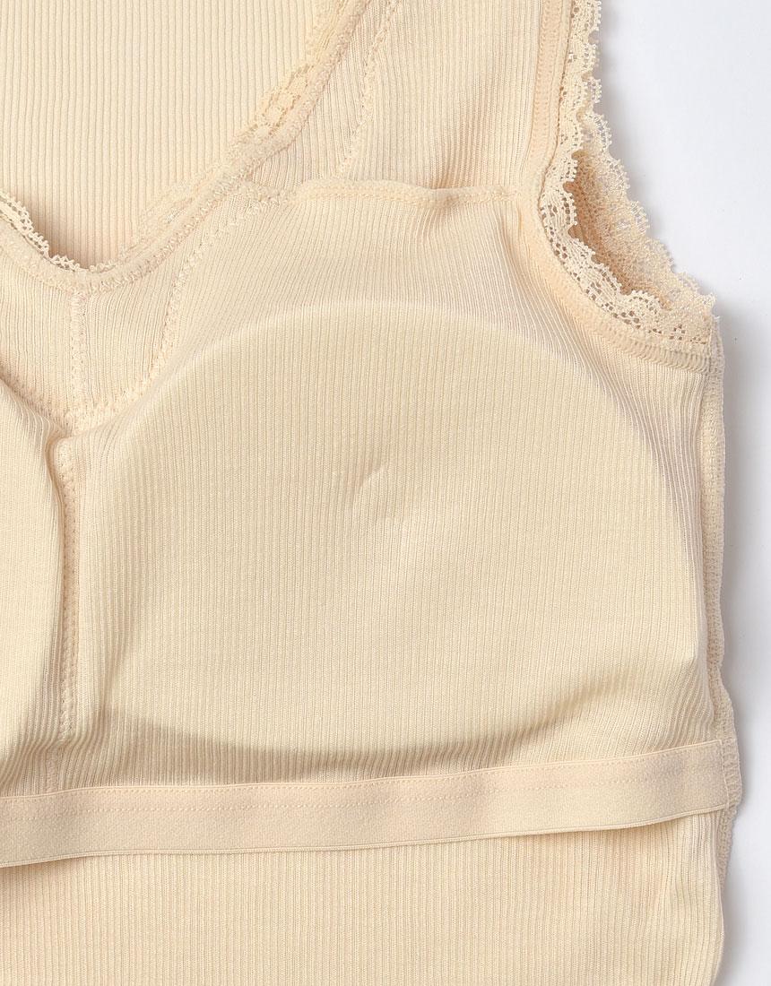 綿100%リブ編みタイプ Vネック ノースリーブ(汗取り付)カラー写真03