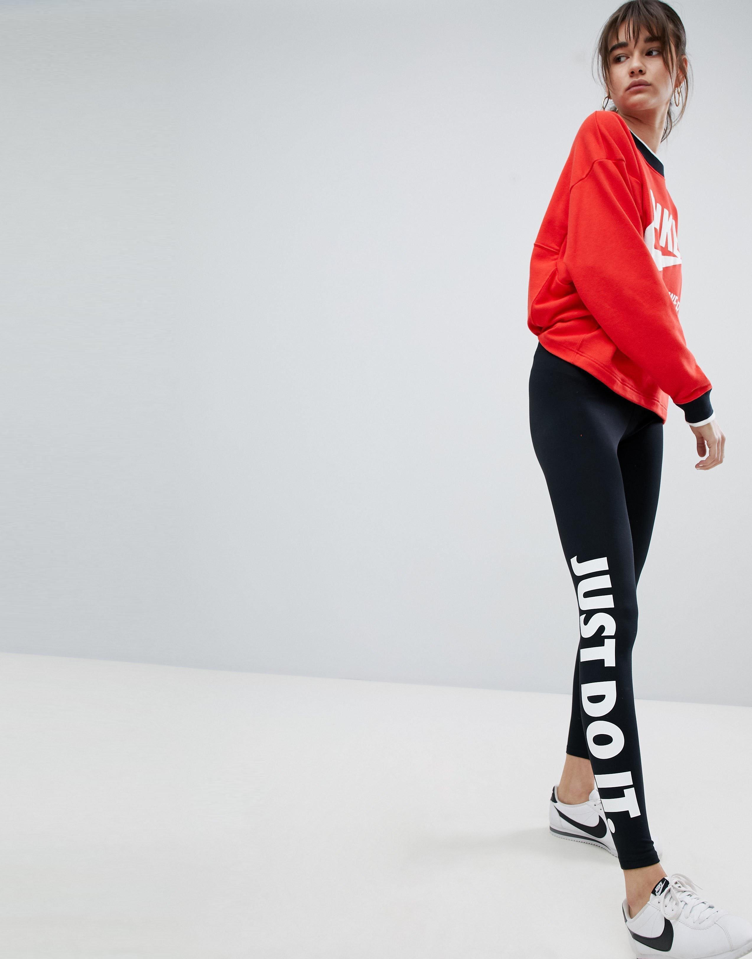 Nike☆JUST DO IT サイドロゴ レギンスカラー写真01
