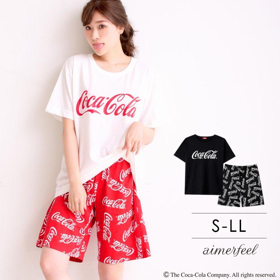 「コカ・コーラ」 上下セット(男女兼用サイズ)スタイル写真