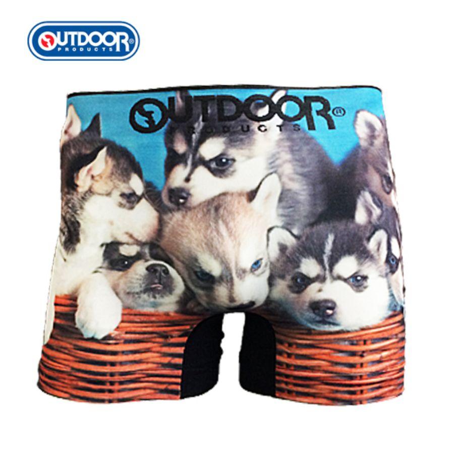 OUTDOOR アウトドア 転写成型ボクサー 子犬 スタイル写真