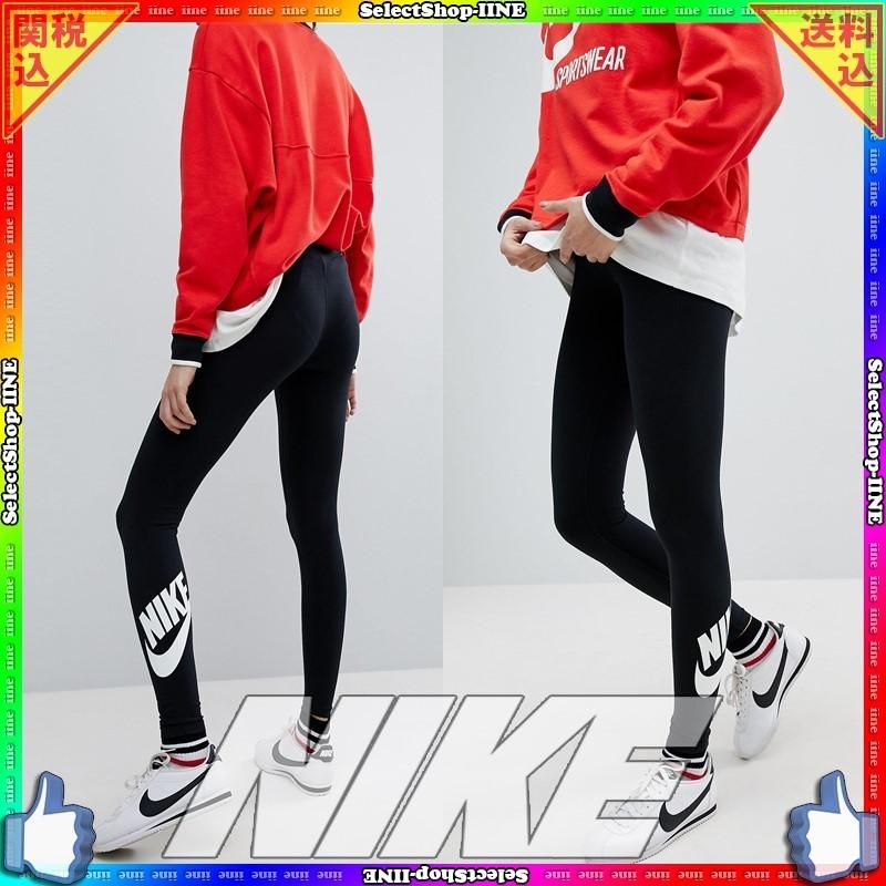 Nike☆スウッシュ Swoosh 裾ロゴ レギンススタイル写真