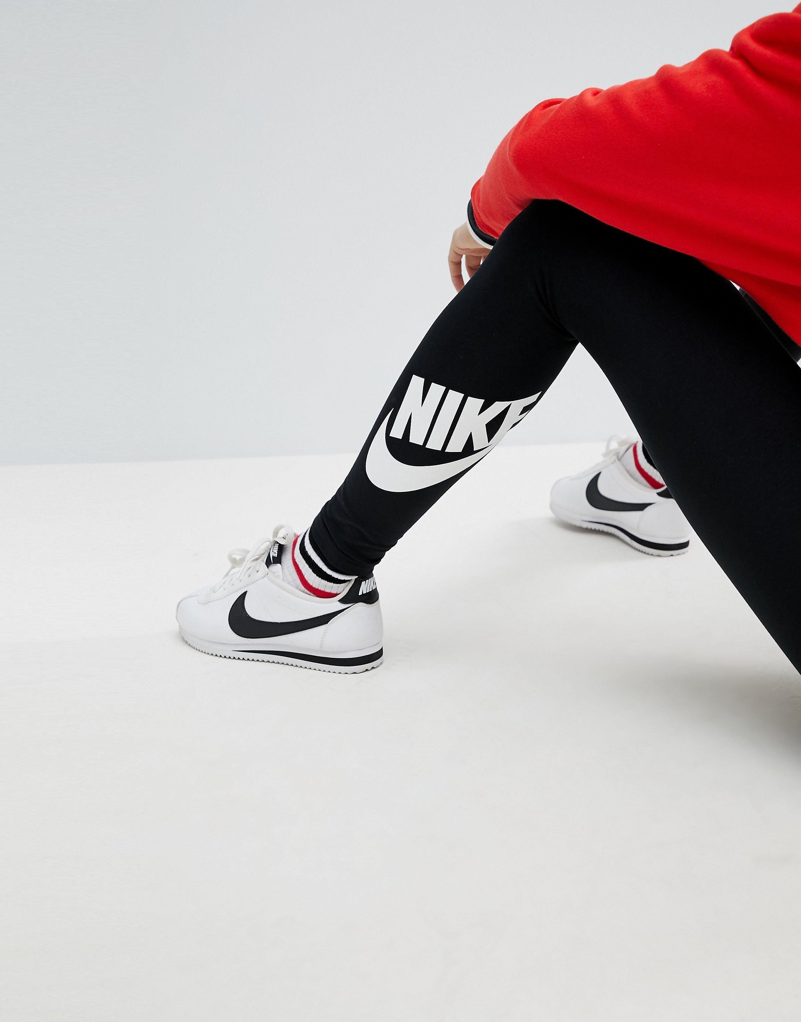 Nike☆スウッシュ Swoosh 裾ロゴ レギンスカラー写真02