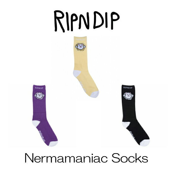 リップンディップ RIPNDIP ソックス Nermamaniac Socks 靴下 猫スタイル写真