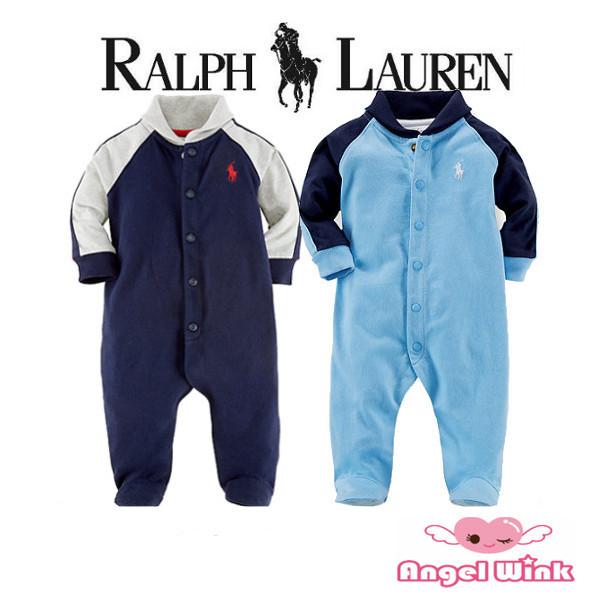 Ralph Lauren(ラルフローレン)男の子用カバーオール ラグラン足つきスタイル写真