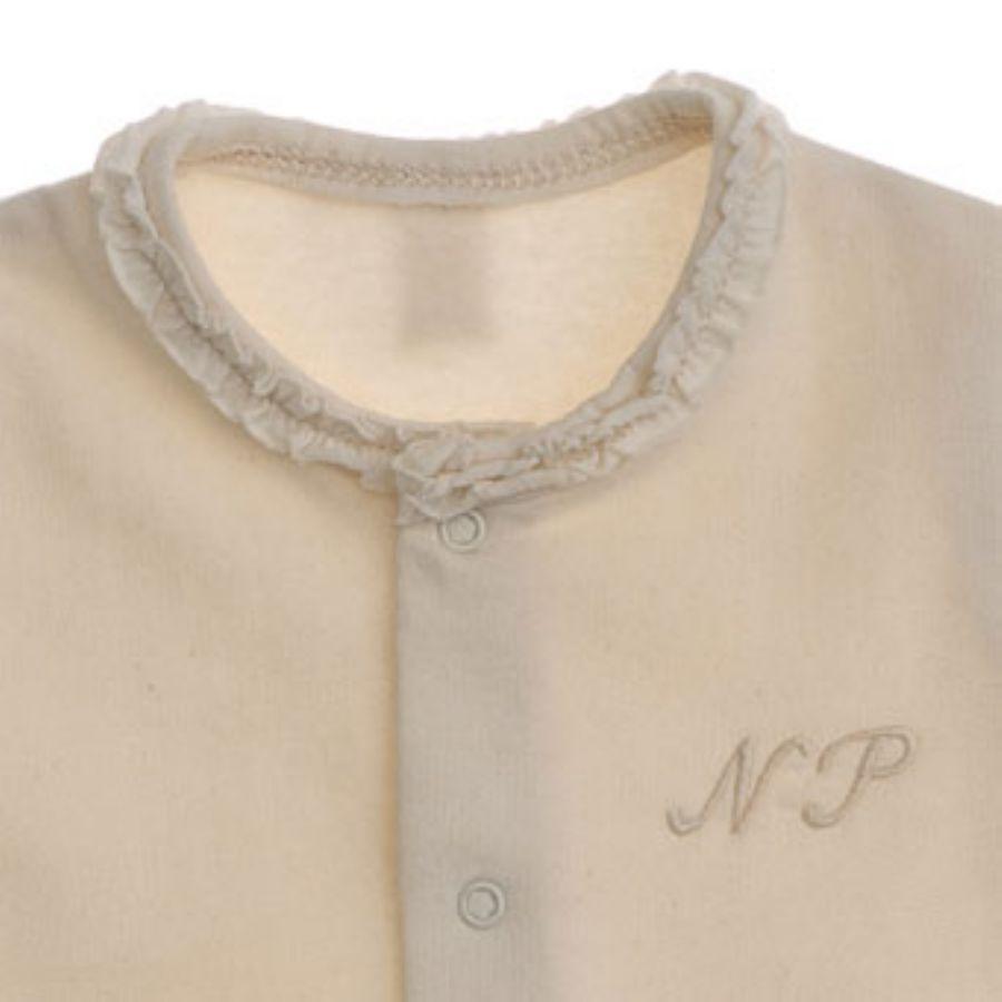 【NATURAPURA/ナチュラプラ】フリル襟袖長袖足付きロンパースカラー写真01