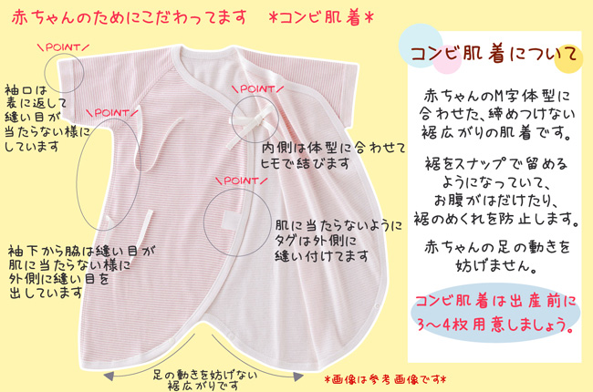 スウィートガール 女の子 肌着セット 6枚組カラー写真02