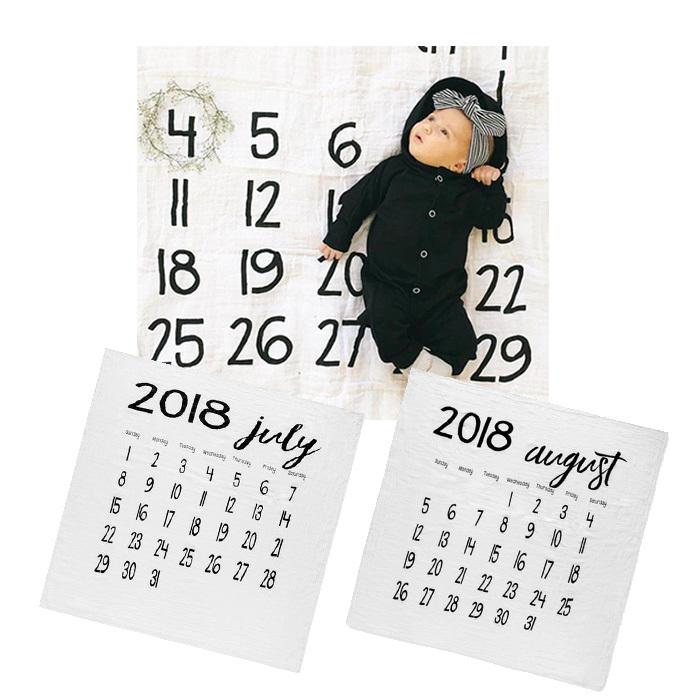 Modern Burnlap モダンバーラップ モノクロモスリンスワドル カレンダー おくるみスタイル写真