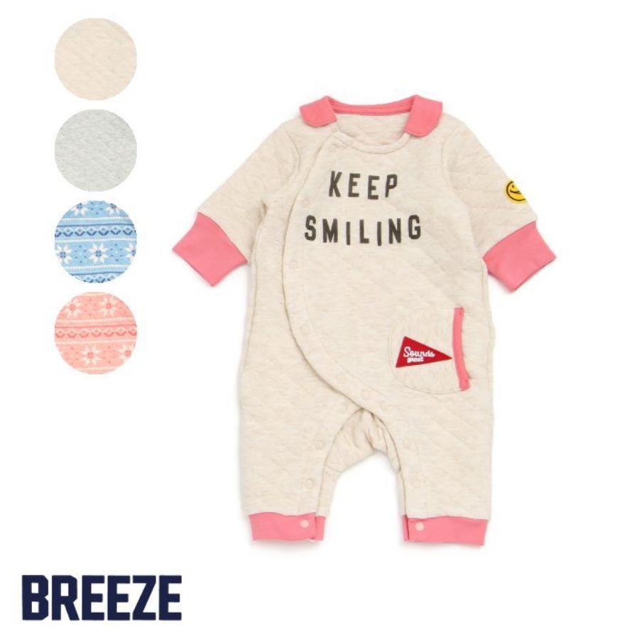 BREEZE 2柄4色ニットキルトカバーオールスタイル写真