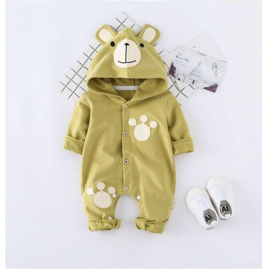 かわいいクマさん着ぐるみカバーオールカラー写真02