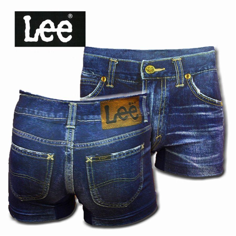 Lee 転写成型ボクサーパンツ ヴィンテージデニム 290:ネイビースタイル写真