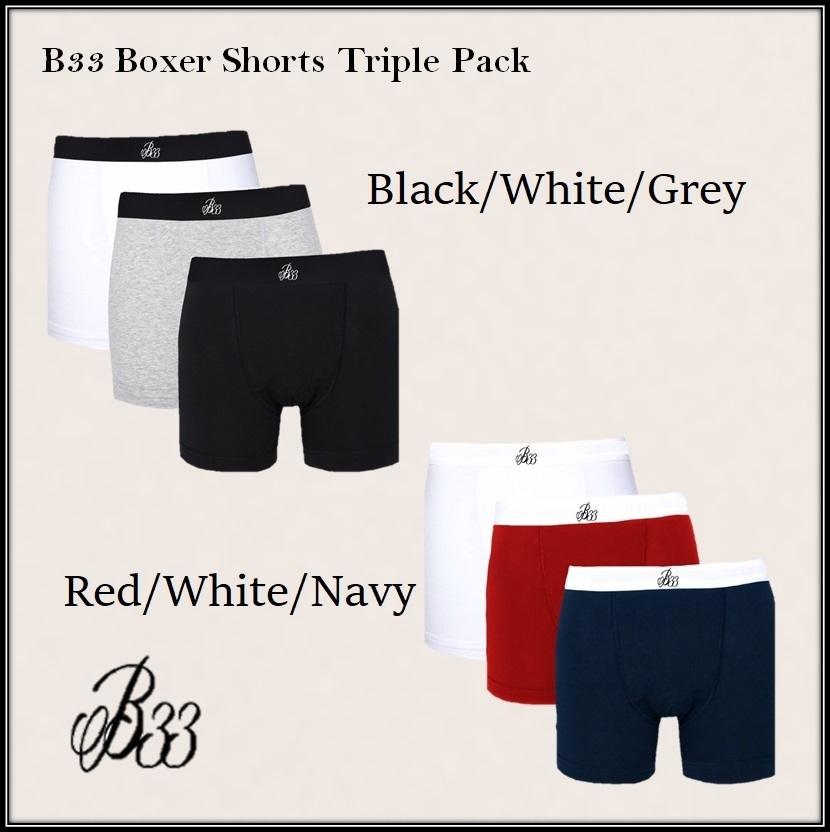 Bee Inspired B33 Boxer Shorts Triple Packスタイル写真