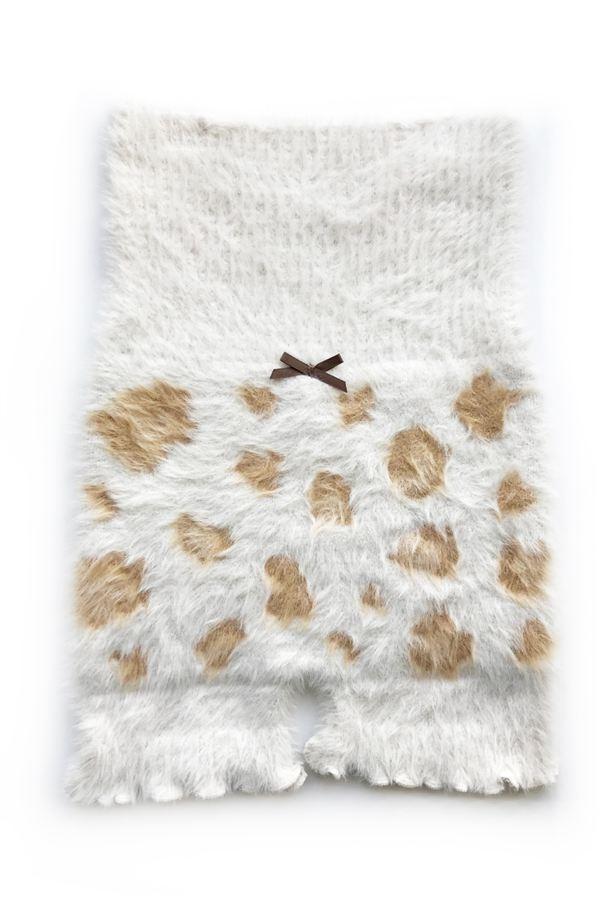[厚手]シャギーレオパード腹巻きパンツスタイル写真