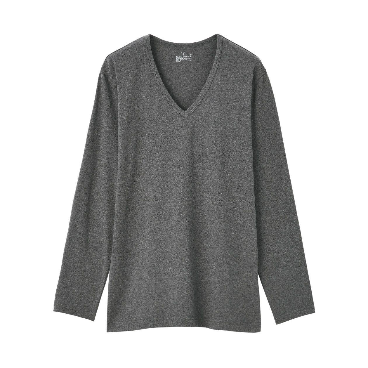 綿であったかVネック長袖Tシャツカラー写真02