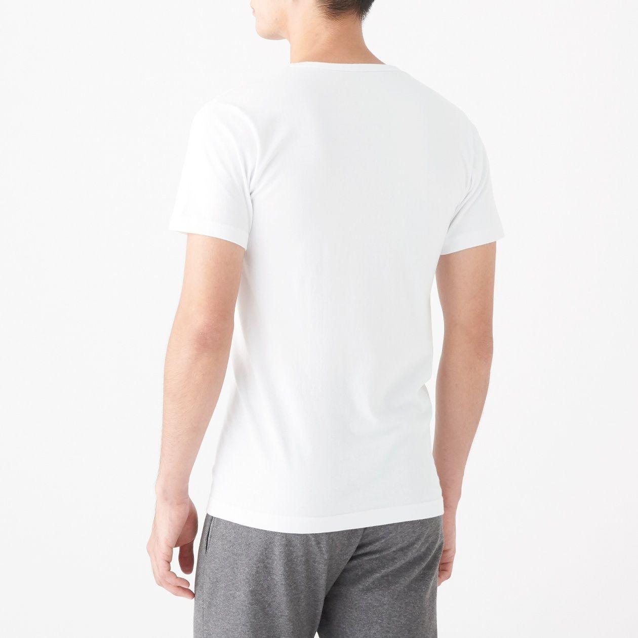 綿であったかVネック半袖Tシャツカラー写真01