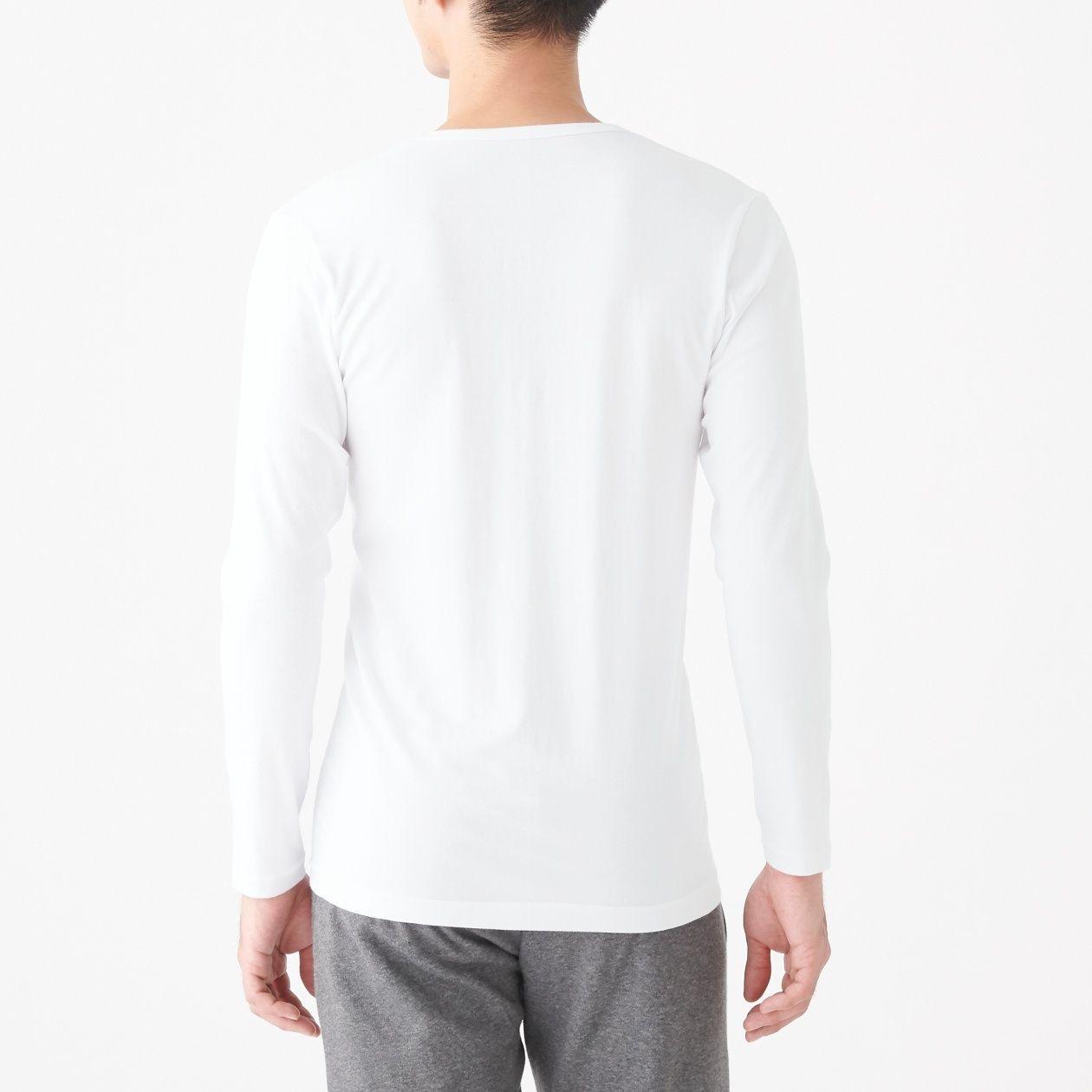 綿であったかVネック長袖Tシャツカラー写真01