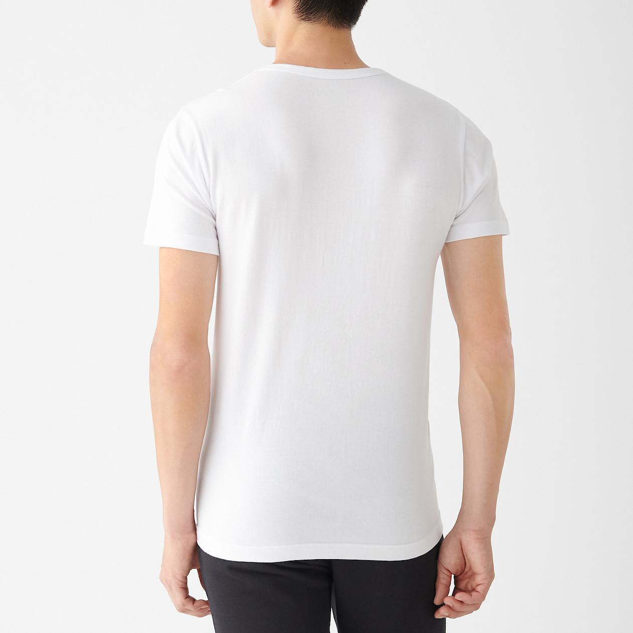 綿であったかクルーネック半袖Tシャツカラー写真01