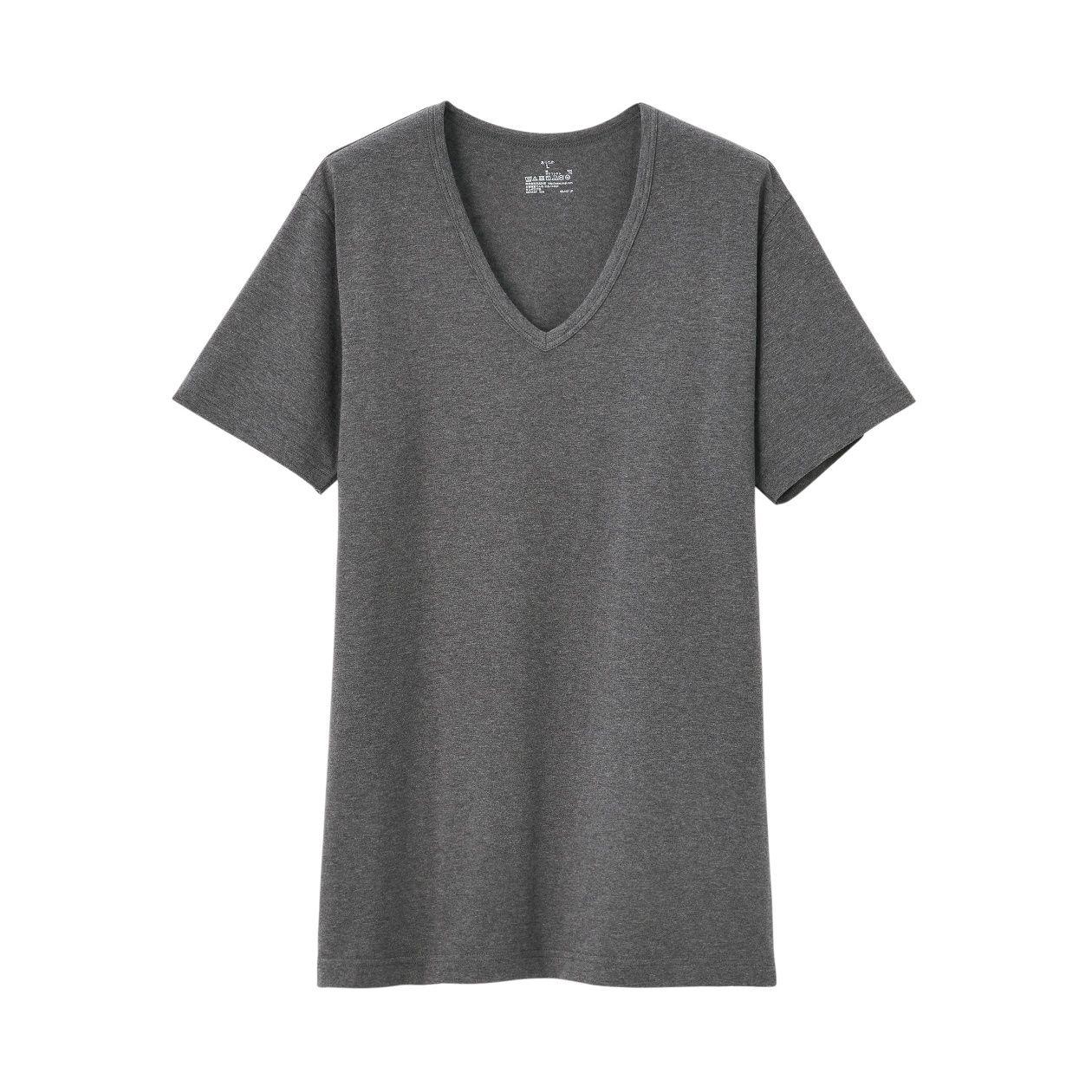 綿であったかVネック半袖Tシャツカラー写真02