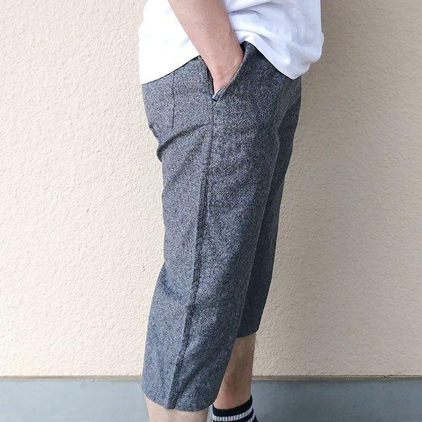 メンズ ハーフパンツ 綿100 2色 ブラック ネイビー 膝下 夏カラー写真01