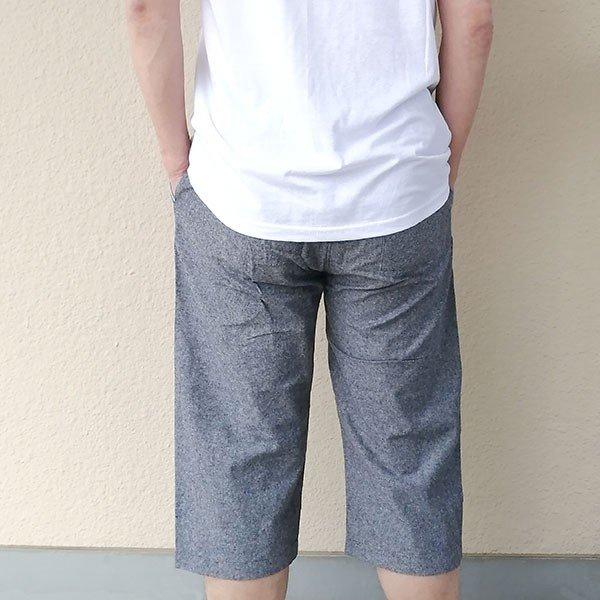 メンズ ハーフパンツ 綿100 2色 ブラック ネイビー 膝下 夏カラー写真02