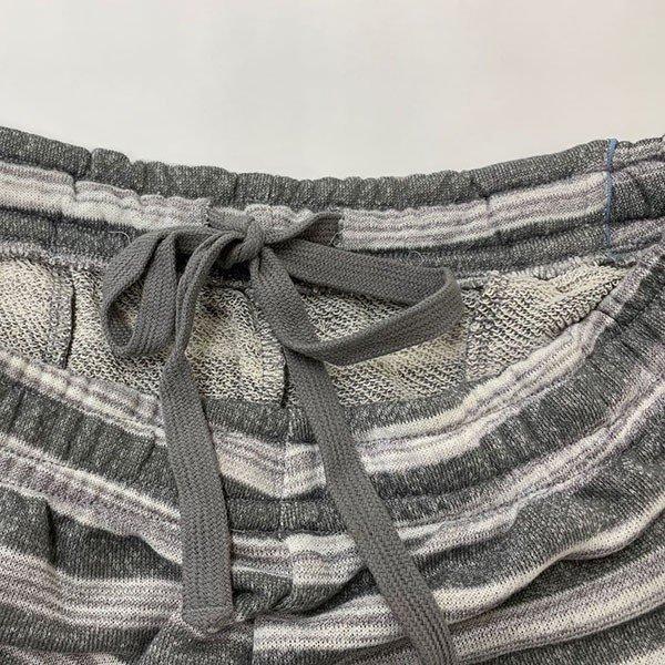 メンズ ハーフパンツ ボーダー 2色 チャコール ネイビー 膝下 夏 素材 良品その他の写真02