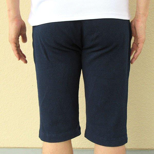 メンズ ハーフパンツ インディゴ染め 2色 ブルー ネイビー 膝下 夏 おしゃれカラー写真02