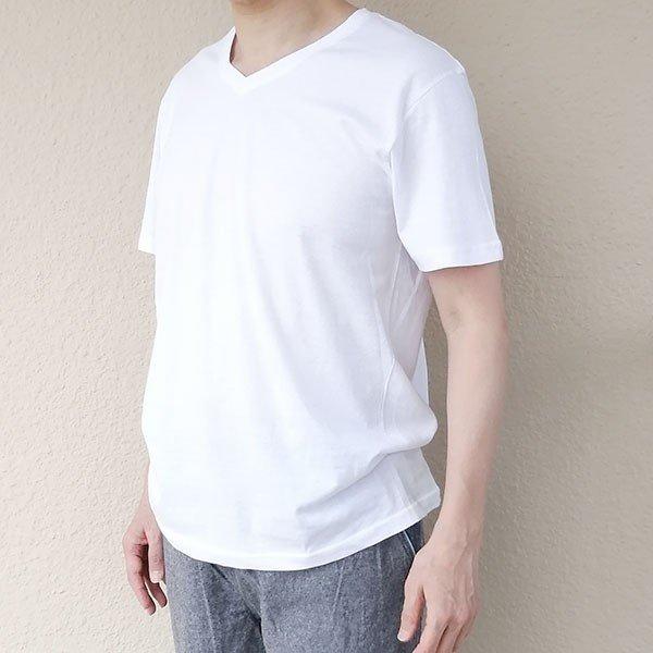 メンズ 半袖 Tシャツ 綿100% 天竺 V首 Vネックカラー写真01