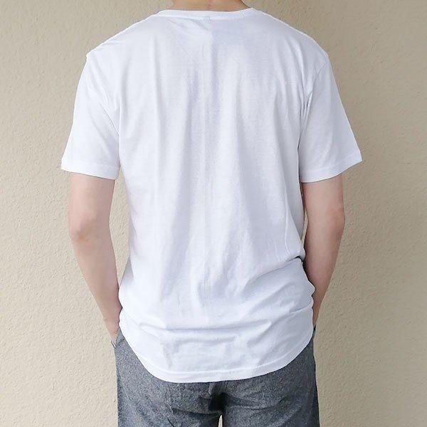 メンズ 半袖 Tシャツ 綿100% 天竺 V首 Vネックカラー写真02