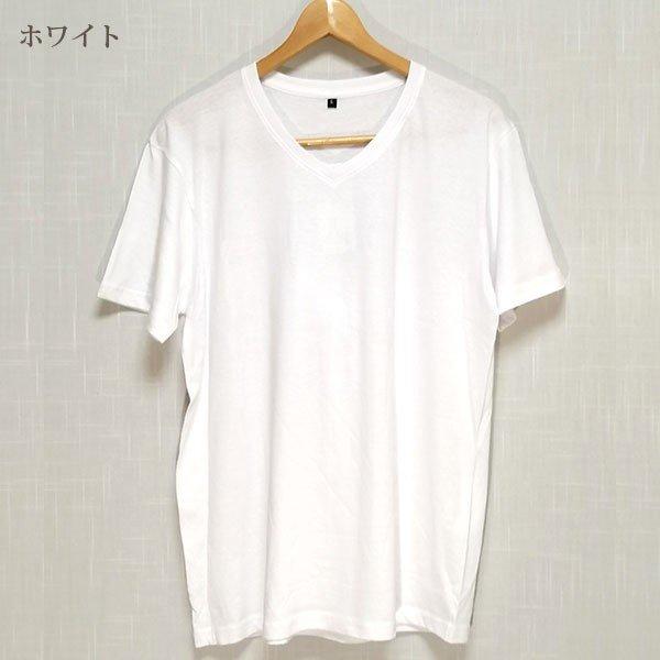 メンズ 半袖 Tシャツ 綿100% 天竺 V首 Vネックカラー写真04