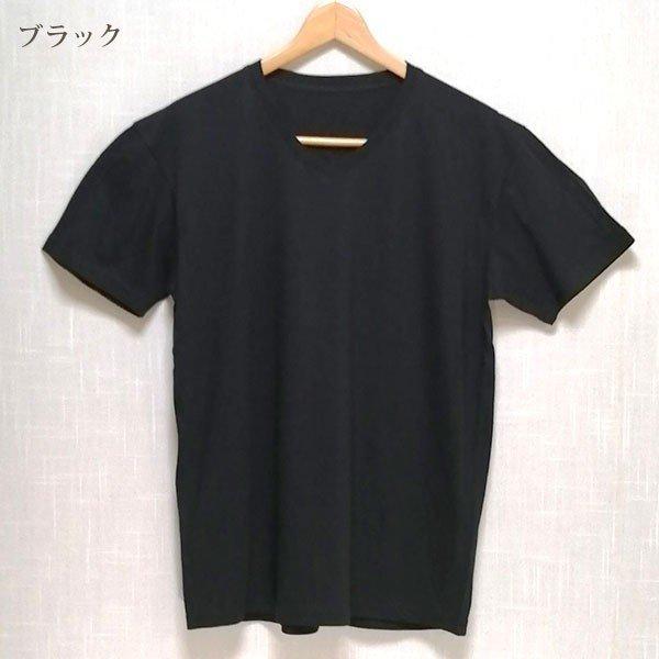 メンズ 半袖 Tシャツ 綿100% 天竺 V首 Vネックその他の写真01